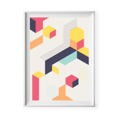 Geometric shapes abstract print