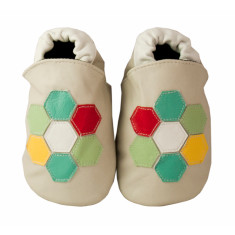 Geometric fusion baby shoes
