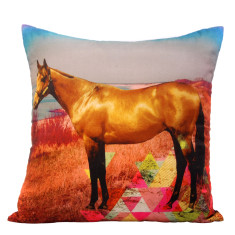 Horse geometric cushion