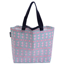 Shopper bag in geometric