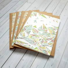 Geometric pattern note card set