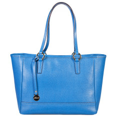 Georgia leather tote in blue