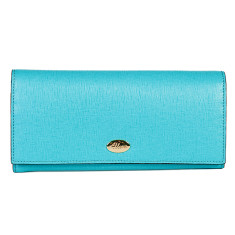 Georgia leather wallet in turquoise