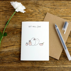 Get Well Soon greeting card (pack of 6)