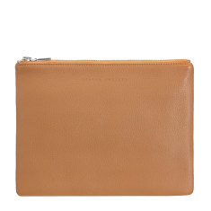 Antiheroine leather wallet in tan