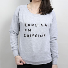 Running on Caffeine Scoop Neck Women's Sweater