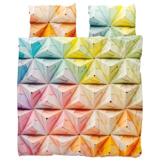 Snurk quilt cover set geogami