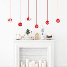 Christmas balls wall decal