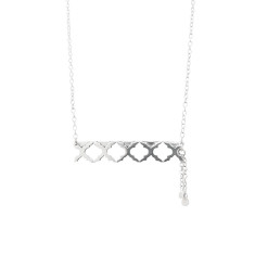 Moroccan Bar Necklace in Sterling Silver