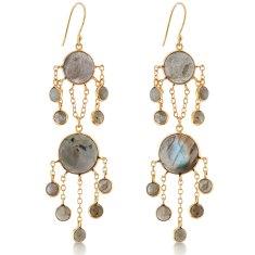 Labadorite Chandelier Earrings