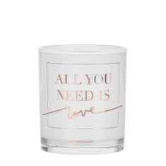 All You Need Is Love Rose Gold Candle