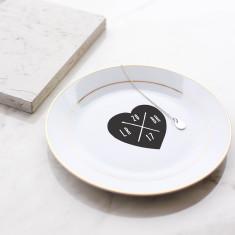 Personalised Heart Initials Jewellery Trinket Dish