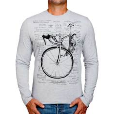 Cognitive therapy grey marle men's long sleeve t-shirt