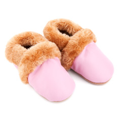 Fur Lined Pre-walker in Pink