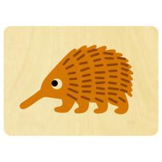 Echidna wooden card
