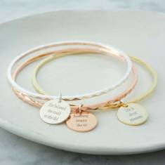 Personalised life quotes bangle