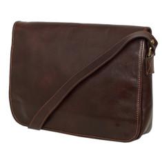 Julius chocolate leather messenger bag
