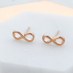Yours for Infinity stud earrings in rose gold