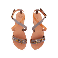 Anemone embellished sandals