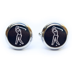 Black Golf Cufflinks