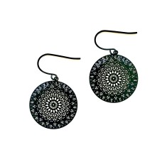 Dreamcatcher earrings in black