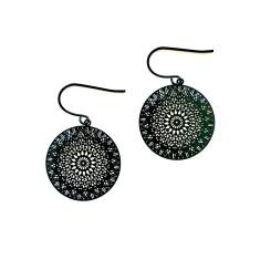 Dreamcatcher earrings in black