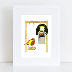 Batman & Robin Hanging Out Limited Edition Fine Art Print
