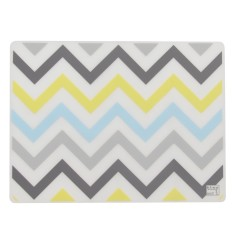 Silicone placemats in bluebird chevron (set of 4)