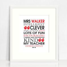 My teacher personalised print