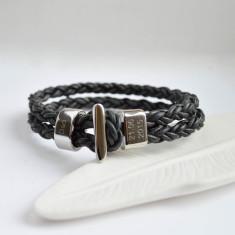 Men's Black Bolo Bracelet