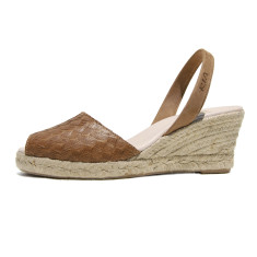 Mira leather sandals in tan