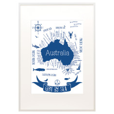 Girt by sea print