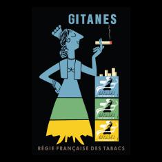 Gitanes regie Francaise des tabacs vintage poster
