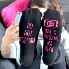 Do Not Disturb Selfie Socks