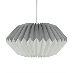 Dove Grey Paper Origami Lampshade