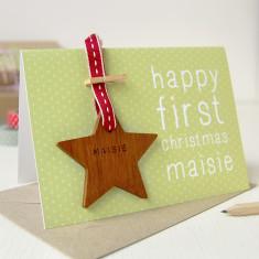 Personalised First Christmas Keepsake Card