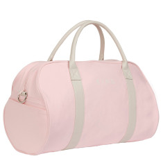 Duvall duffel bag in pink canvas and white Italian leather