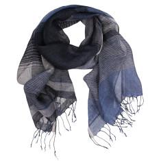 Jesse hand loomed soft linen stripe scarf