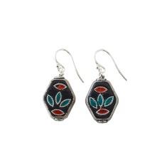 Tijuana Mexican Metal Drop Earrings