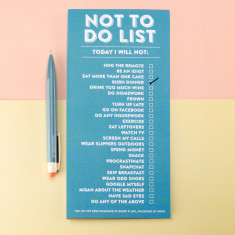 Not to Do List Pad