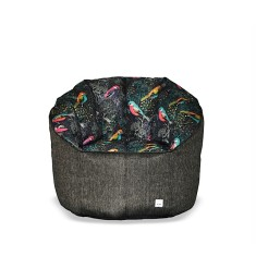 BBBYO Luxury linen armchair beanbag cover - tui print