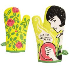 Hot hot vegetarian action oven mitt by blue