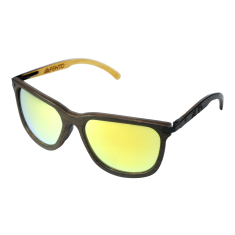 Fento wooden sunglasses in spectra wengue black yellow