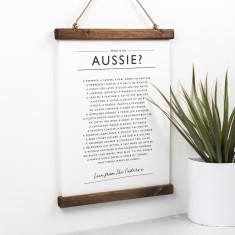 Aussie Poem Print