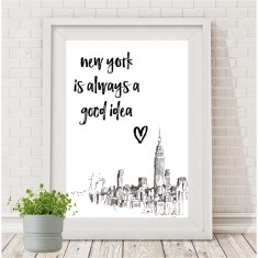 New York is always a good idea print