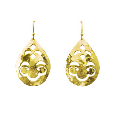 Tear Drop Earrings in 18 KT Yellow Gold Plate