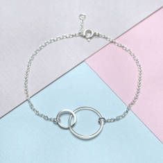 Sterling Silver Duo Circles Bracelet