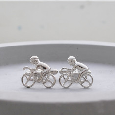 Bicycle racing stainless steel cufflinks