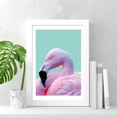 Pink flamingo art print (various sizes)
