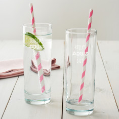Personalised 'Liquid Diet' Hi Ball Glass